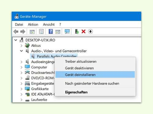 Audio-Probleme nach Installation von Windows 10