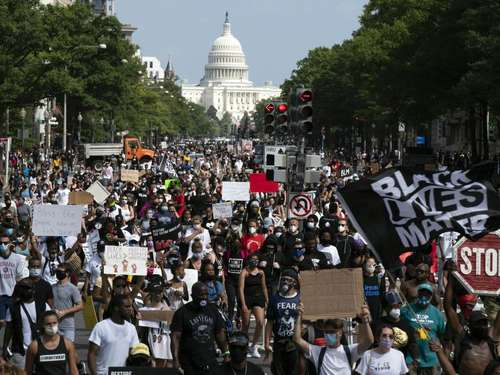 Protest gegen Rassismus in Washington