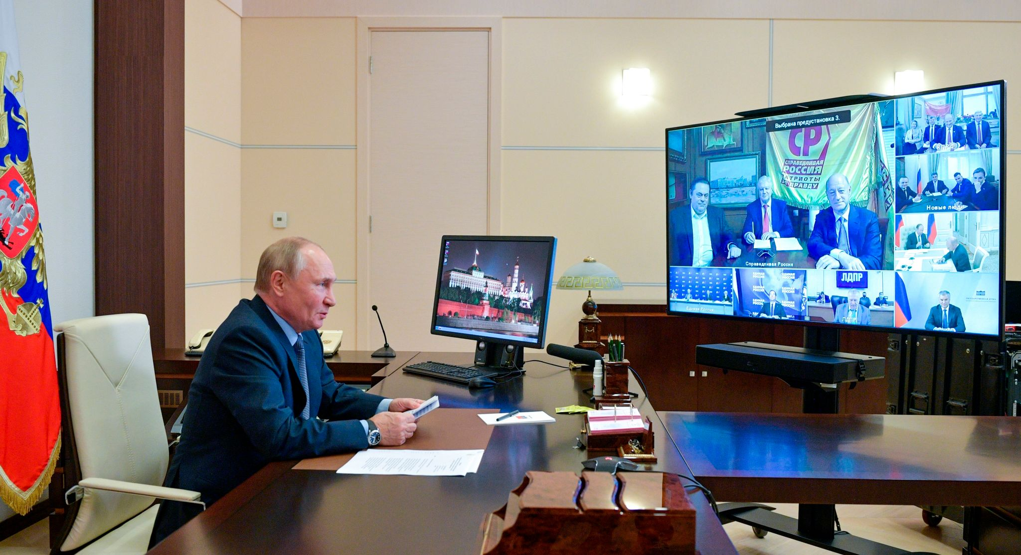 Putin lobt faire Dumawahl - Hunderte protestieren in Moskau